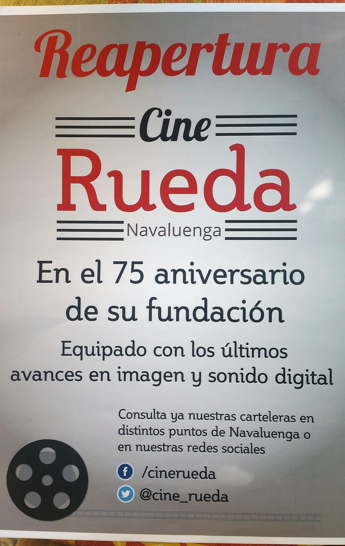 CINE DE VERANO, REAPERTURA CINE RUEDA.